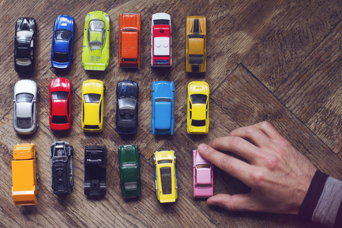 A luxury car collection
